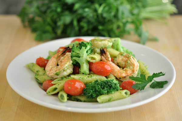 Shrimp Penne Pesto