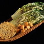 Grilled Caesar Salad with Parmesan Crisp