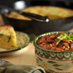 Turkey Chili with Cheesy Cornbread