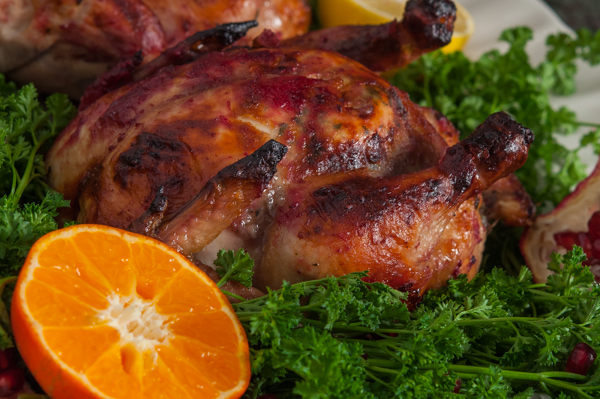 Cranberry Glazed Cornish Game Hen