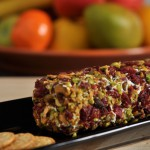 Pistachio and Cranberry Crusted Goat Cheese