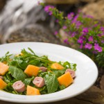 Arugula Cantaloupe and Ham Salad