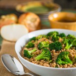 Broccoli and Farro Salad with Vidalia Onion Vinaigrettei