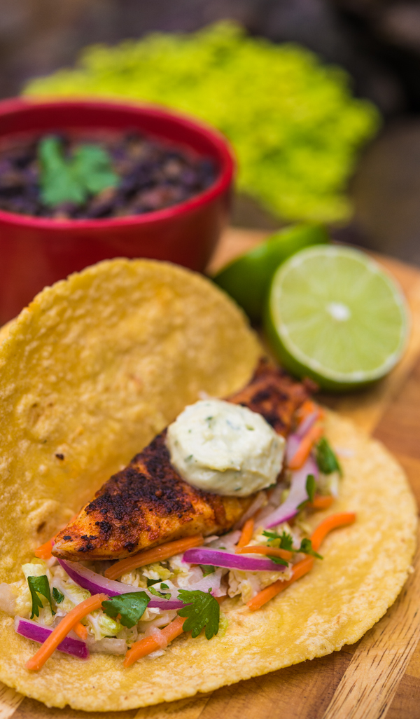 Blackened Tilapia Tacos with Jicama Coleslaw 2