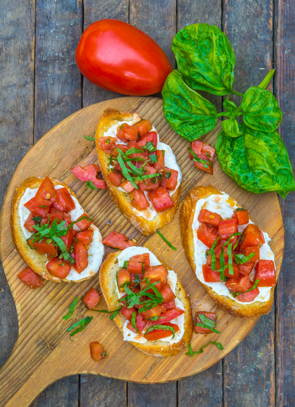Tomato Mozzarella and Basil Bruschetta 2