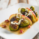 Roasted Brussels Sprouts with Apple and Creme Fraiche