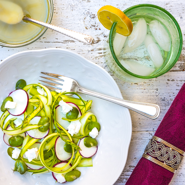 Asparagus Radish and Fava Bean Salad