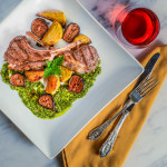 Grilled Lamb Chops with Mint Pesto