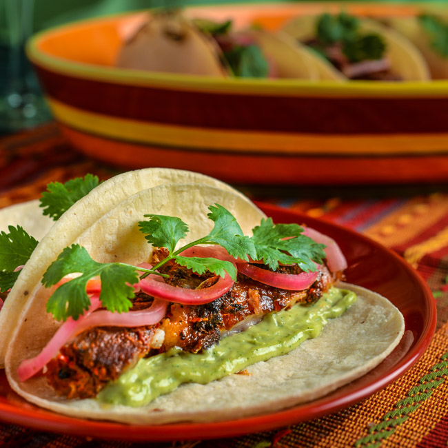 Ancho Braised Pork Belly Tacos