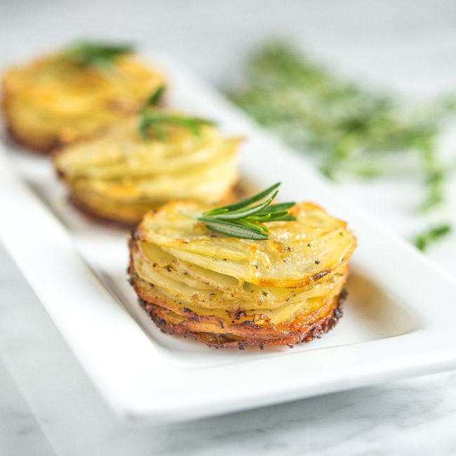 Rosemary Asiago Potato Stacks