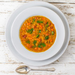 Red Lentil Soup with Collards