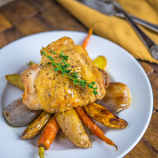 en and Vegetables with Maple Dijon Sauce