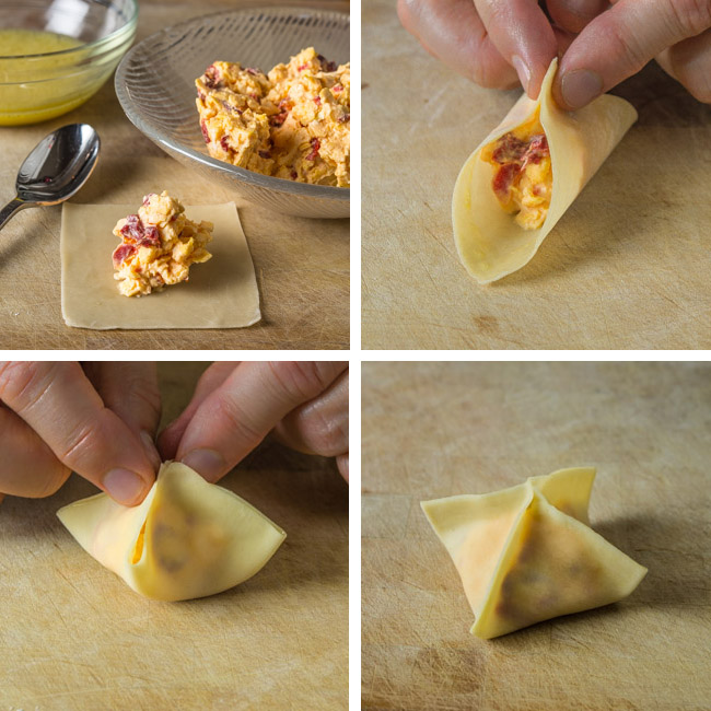 Pimento Cheese Wonton Instructions