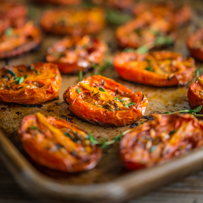 Roasted Roma Tomatoes