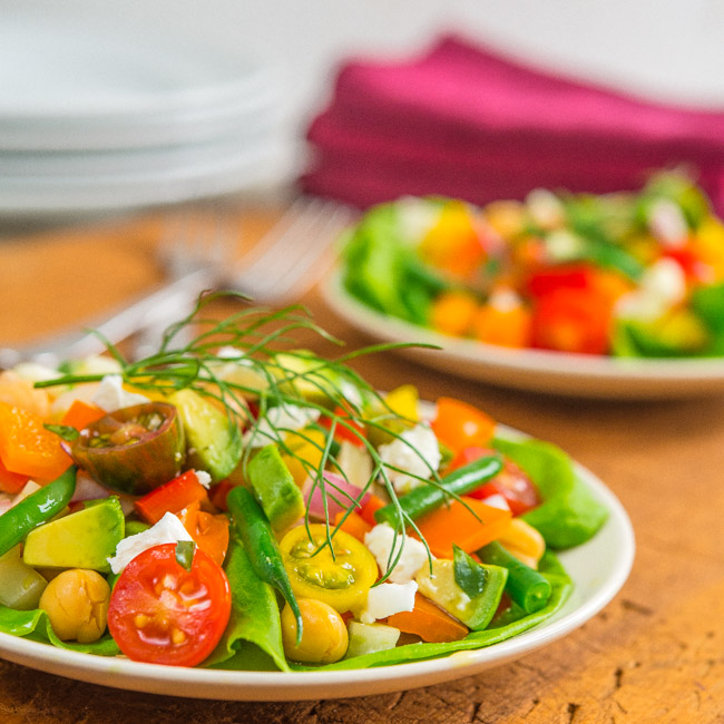 Chopped Salad with Goat Cheese and Tarragon Vinaigrette