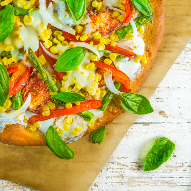 Summer Pizza with Smoked Chicken
