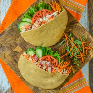 Pita Pockets with Lobster Tarragon Salad