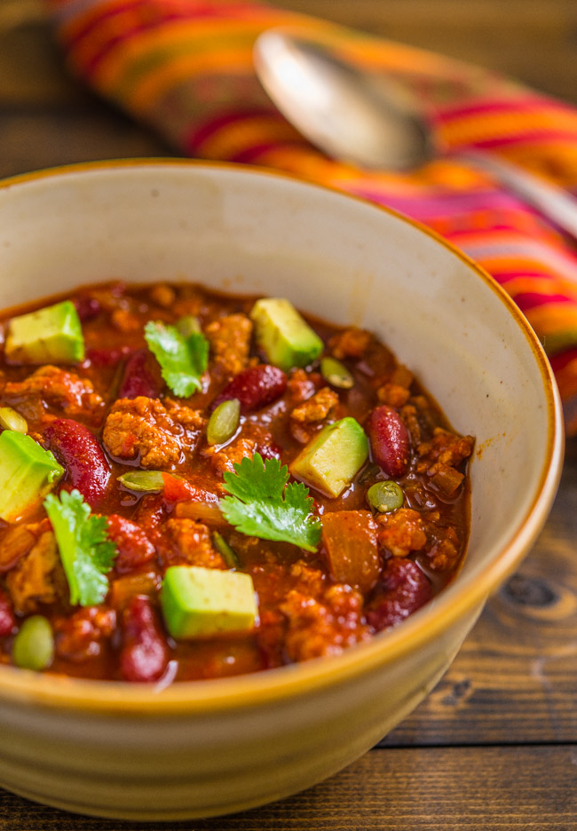 Smokey and Sweet Turkey Chili